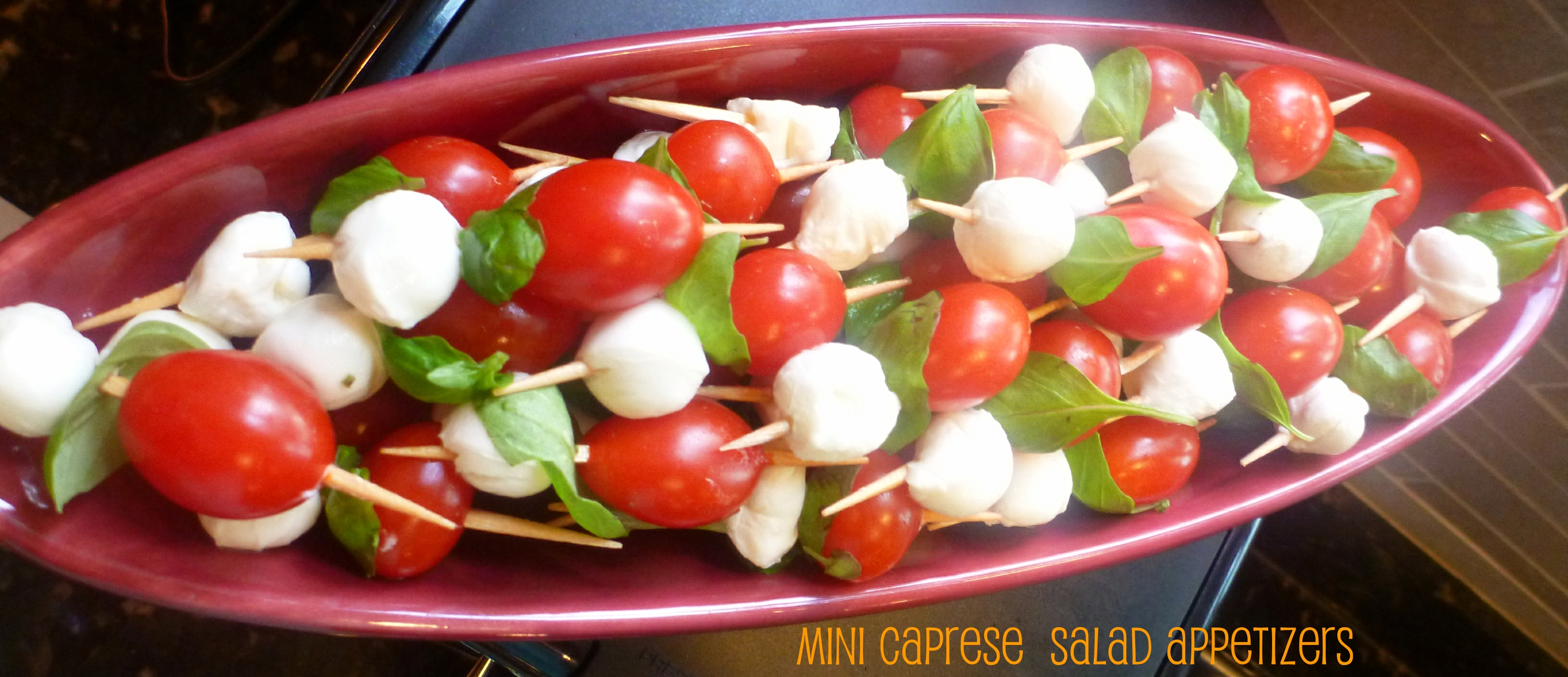 mini caprese salad appetizers - Learning Patience