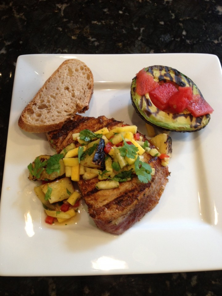 Seared Spicy Tuna w/Grilled Pineapple Salsa - Learning ...