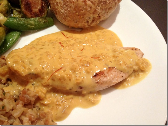 Chicken Scaloppine With Saffron Cream Sauce - Learning Patience
