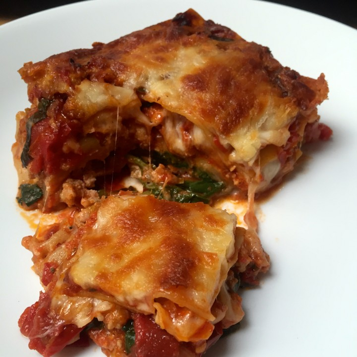 Turkey Lasagna with Spinach and Leeks